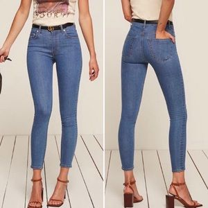 Reformation Serena High Skinny Crop Jeans Cannes